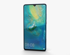 3D model of Huawei Mate 20 X Midnight Blue