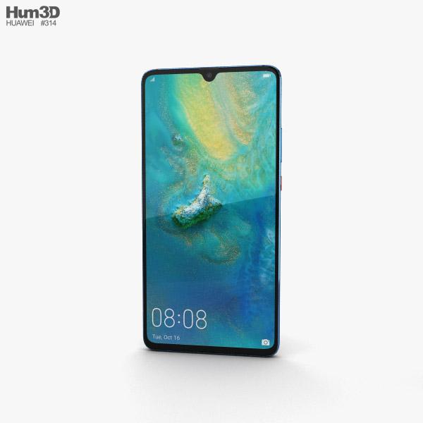 Huawei Mate 20 X Midnight Blue 3D model