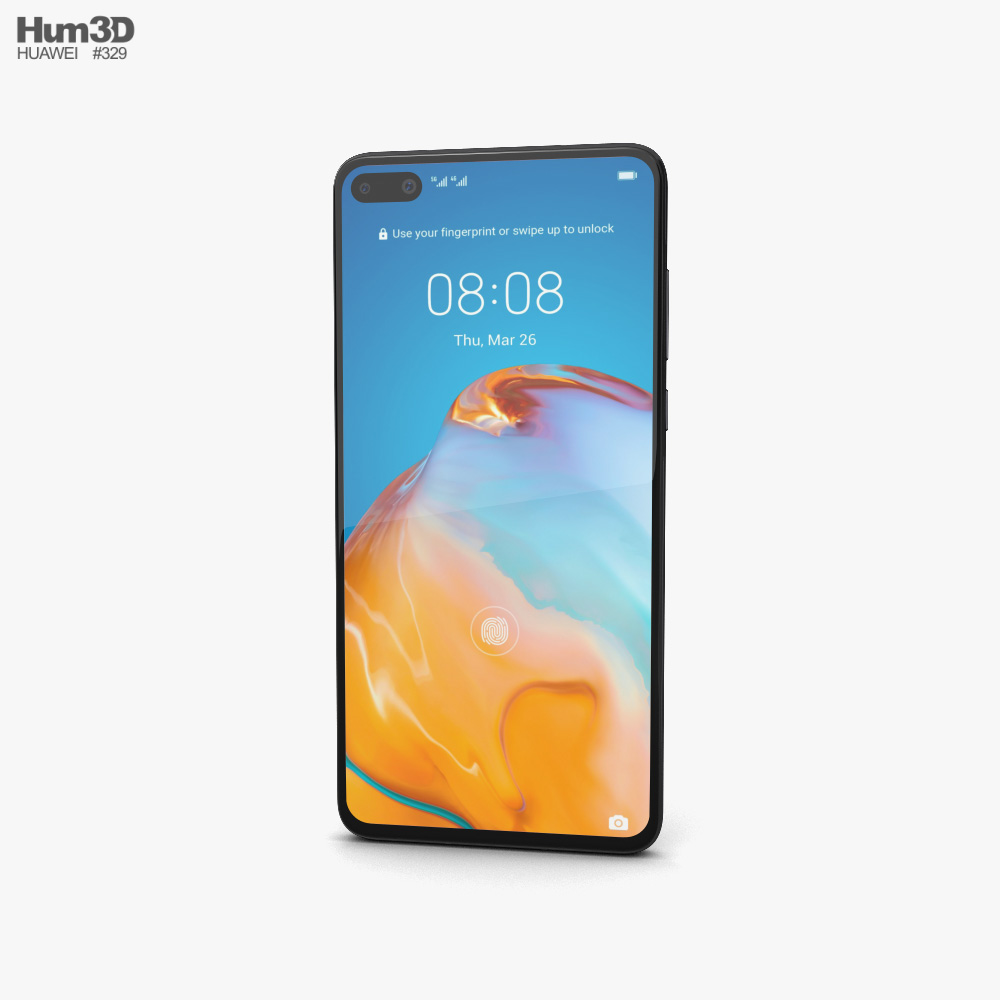 Huawei P40 Black 3D model