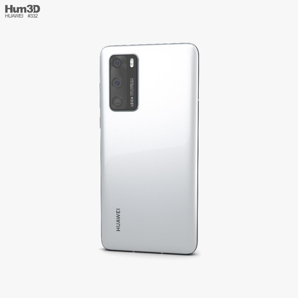 Huawei P40 Ice White 3d model