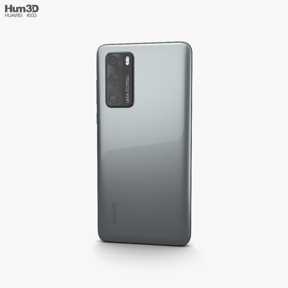 Huawei P40 Silver Frost 3d model