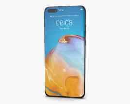 3D model of Huawei P40 Pro Silver Frost