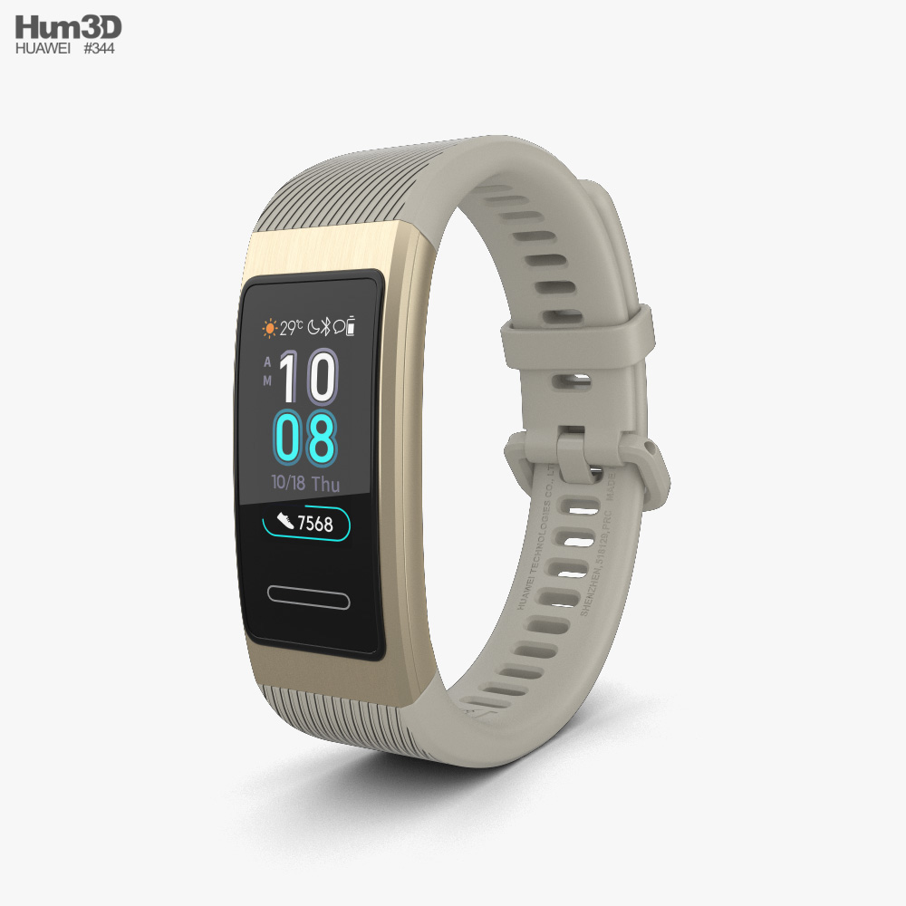 Huawei Band 3 Pro Gold 3D model