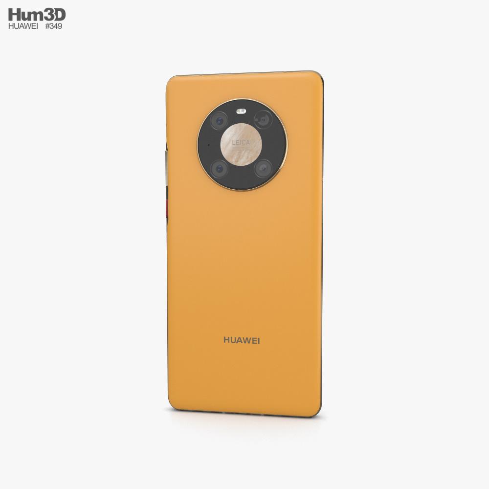 Huawei Mate 40 Pro Yellow 3d model