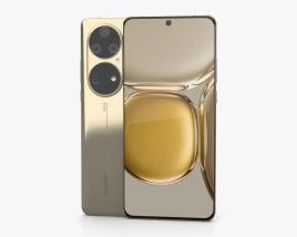 Huawei P50 Pro Gold 3D model