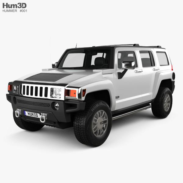 Hummer H3 2010 3D model
