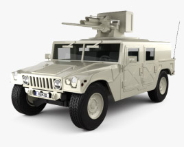 3D model of Hummer M242 Bushmaster 2011