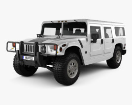 3D model of Hummer H1 wagon 2005