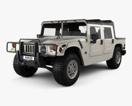 3D model of Hummer H1 pickup 2005