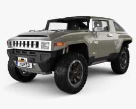 3D model of Hummer HX 2008