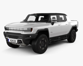 3D model of GMC Hummer EV Pickup 2022