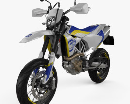 3D model of Husqvarna 701 Supermoto 2017