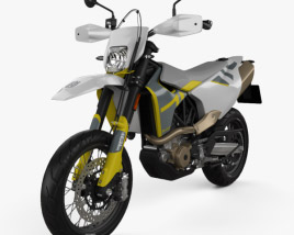 3D model of Husqvarna 701 Supermoto 2020
