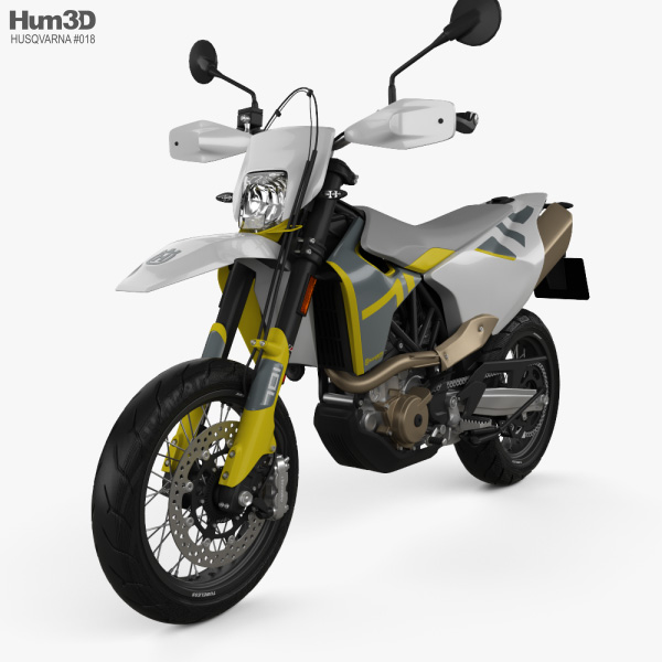 3D model of Husqvarna 701 Supermoto 2020
