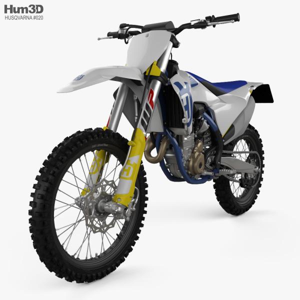 3D model of Husqvarna FC 350 2020