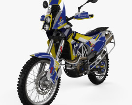 3D model of Husqvarna Rally 701 2017