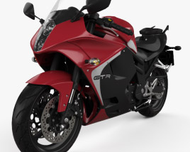 3D model of Hyosung GT650R 2015