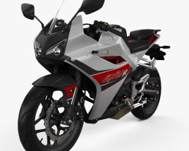 3D model of Hyosung GD250R 2015