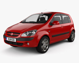 3D model of Hyundai Getz 2008