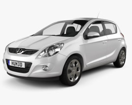 3D model of Hyundai i20 5-door 2010