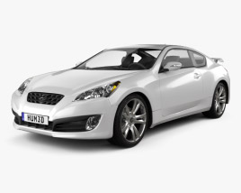 3D model of Hyundai Genesis Coupe 2011