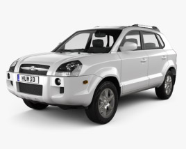 3D model of Hyundai Tucson 2006