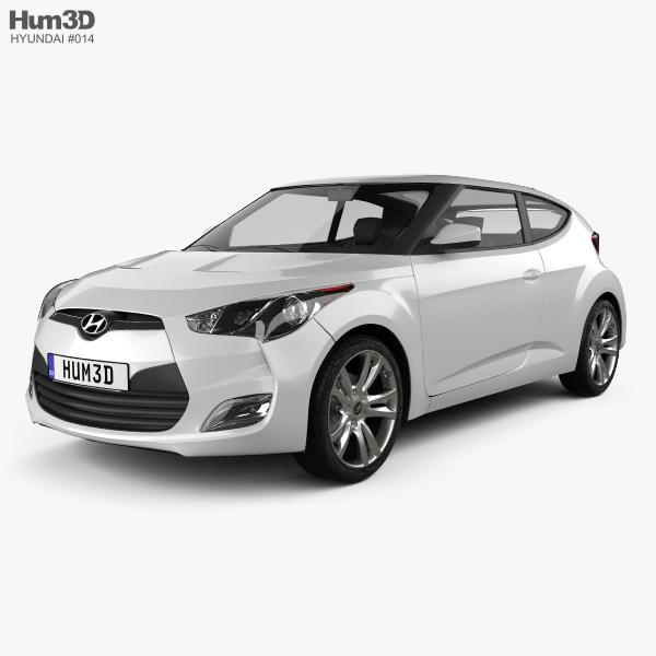 3D model of Hyundai Veloster 2012