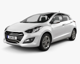 3D model of Hyundai i30 (Elantra Touring) hatchback 2013