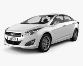 3D model of Hyundai i40 sedan 2012