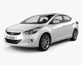 3D model of Hyundai Elantra (i35) Sedan 2012