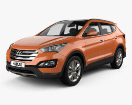 3D model of Hyundai Santa Fe Sport 2013