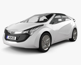 3D model of Hyundai Blue-Will 2010