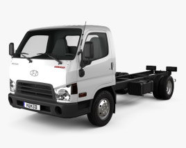 3D model of Hyundai HD65 Chassis Truck 2012
