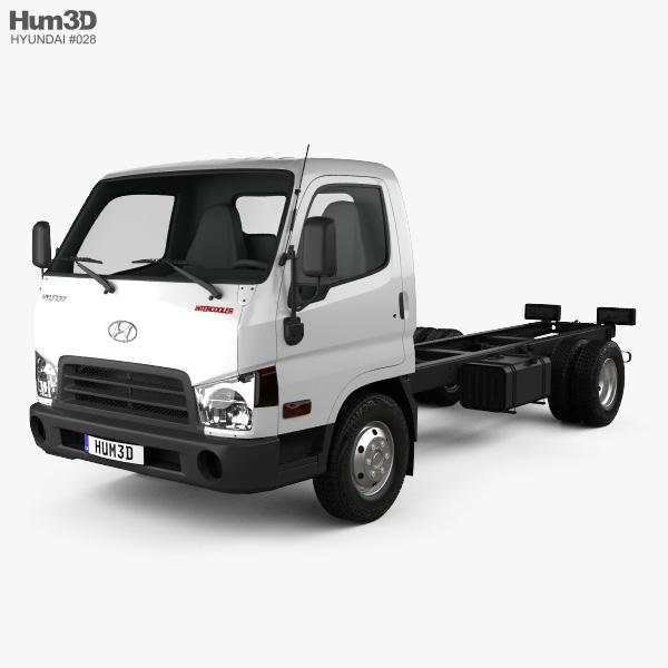 Hyundai HD65 Chassis Truck 2012 3D model