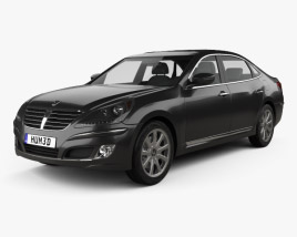 3D model of Hyundai Equus (Centennial) 2012