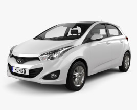 3D model of Hyundai HB20 2013