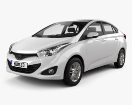 3D model of Hyundai HB20S 2013