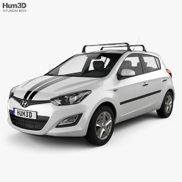 Hyundai i20 5-door 2013 3D model