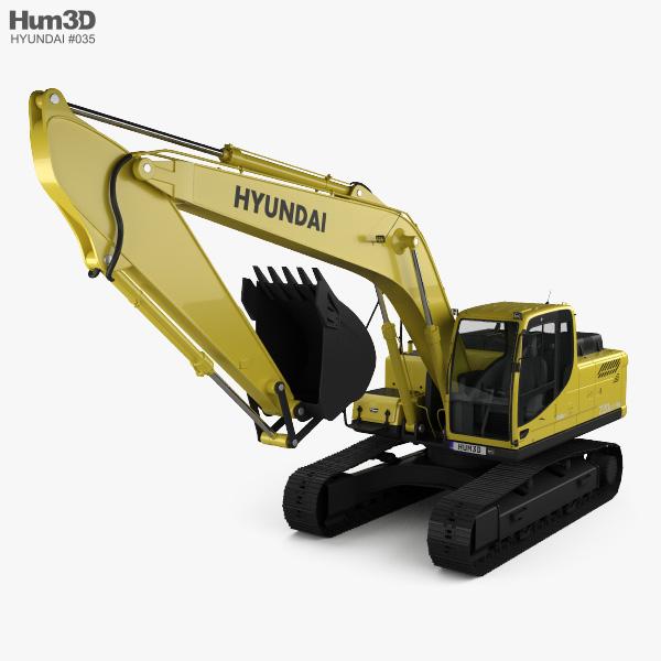3D model of Hyundai R220LC-9S Excavator 2013