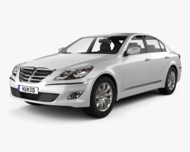 Hyundai Genesis (Rohens) sedan 2012 3D model