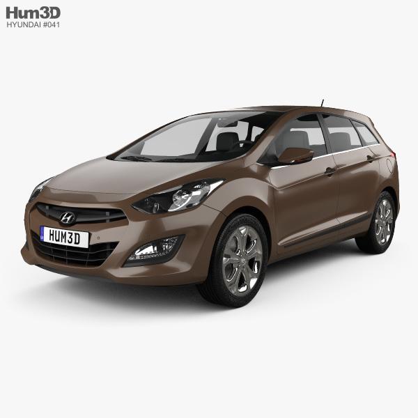 Hyundai i30 5-door wagon (EU) 2013 3D model