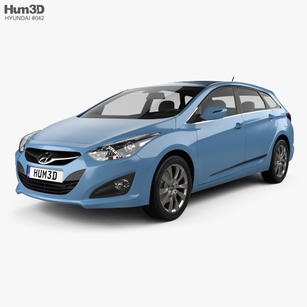 3D model of Hyundai i40 Tourer EU 2012