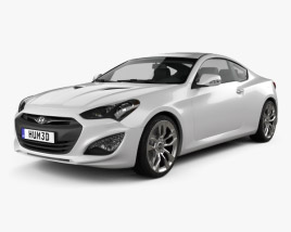 3D model of Hyundai Genesis coupe 2012