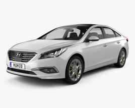 3D model of Hyundai Sonata (LF) 2015