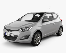 3D model of Hyundai i20 3-door 2013