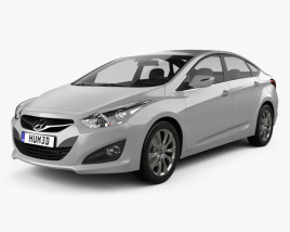 3D model of Hyundai i40 sedan (EU) 2012