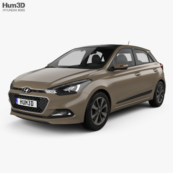 Hyundai Elite i20 2014 3D model