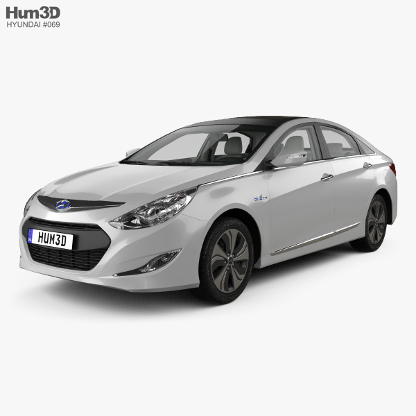 Hyundai Sonata (YF) hybrid with HQ interior 2015 3D model