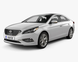3D model of Hyundai Sonata (LF) with HQ interior 2014