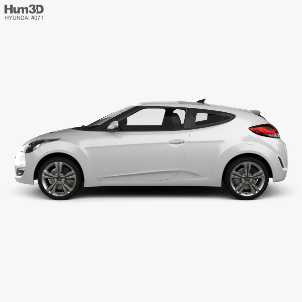 Hyundai Veloster with HQ interior 2014 3D model